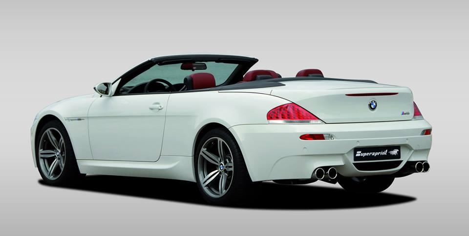 Supersprint fra Danspeed til BMW E64 Cabrio M6 5.0i V10