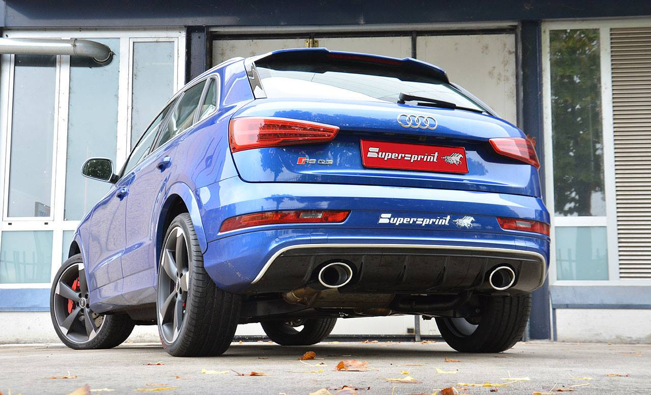 Supersprint Exhaust For Audi Rs Q3 2 5 Tfsi Quattro 367 Hp 2015 2017 With Valve