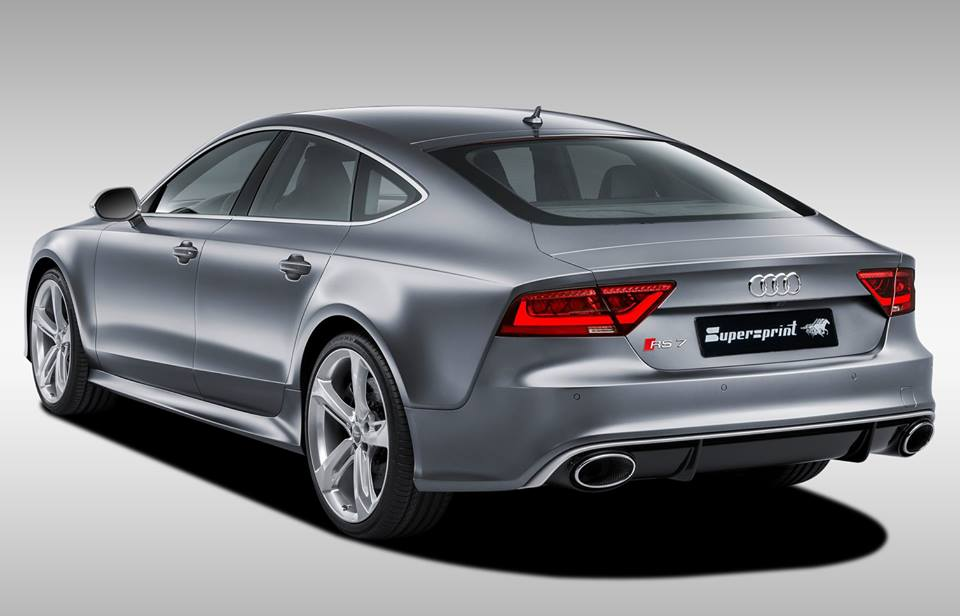 Supersprint Exhaust for AUDI A7 RS7 Quattro 4.0T (560 Hp) 2013 -> (with valve)