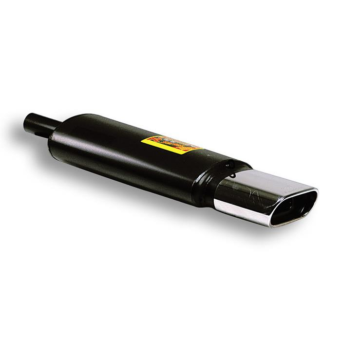 Supersprint | Výfuk - Univerzální zadní tlumič s koncovkou, 412239 (Zadní díl výfuku - oválná koncovka, 145x75 mm)