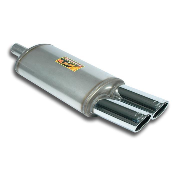 Supersprint | Výfuk - Univerzální zadní tlumič s koncovkou, 413707 (Zadní díl výfuku 90x70 mm)