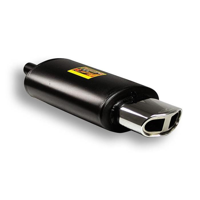 Supersprint | Výfuk - Univerzální zadní tlumič s koncovkou, 412059 (Zadní díl výfuku - oválná koncovka Evo2, 145x75 mm)