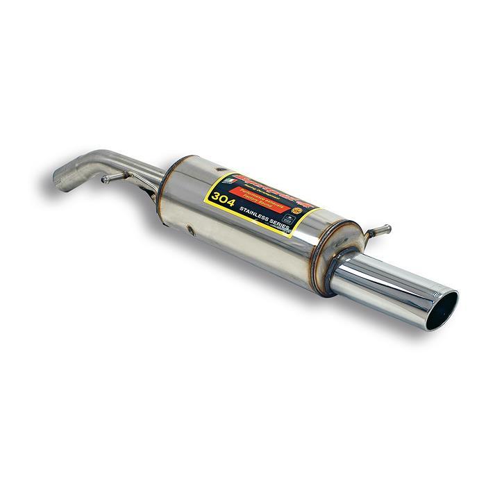 Supersprint | Výfuk - Citroen C2, 1.6i 16V VTR, 2004-2009, 804014 (Zadní díl výfuku 90x85 mm, nerezová ocel, E-approved)