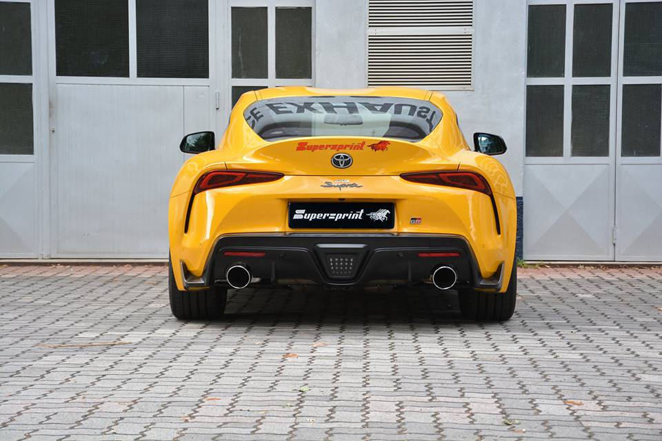 Supersprint Exhaust for TOYOTA GR SUPRA 3.0L Turbo (340 Hp - models with OPF) 2019 -> (with valve)