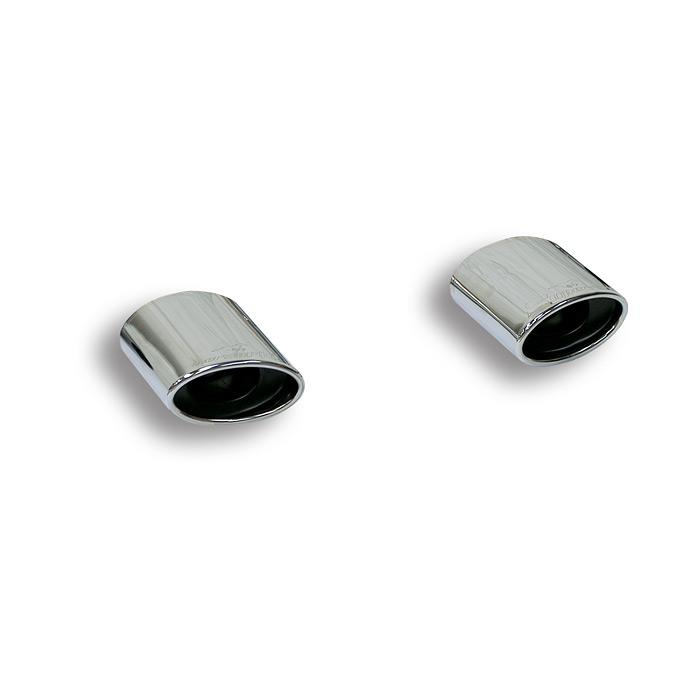 Audi - AUDI A3 8P 2.0 TDi (140 Hp) ' 03 ->'13 Oval endpipe kit Right + Left 145 x 95, performance exhaust systems