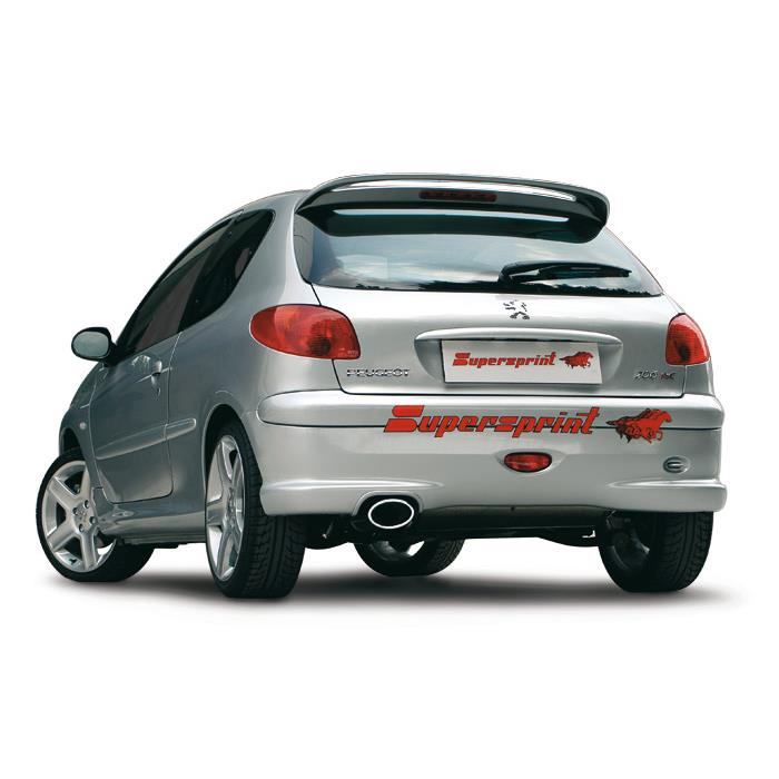 peugeot 206 rc gti 180 hp 39 03 peugeot exhaust systems. Black Bedroom Furniture Sets. Home Design Ideas