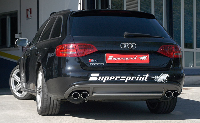 Performance sport exhaust for Audi S4 B8, AUDI S4 QUATTRO (Sedan +