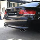 BMW E92 330XD - Quad pipes rear exhaust fitted