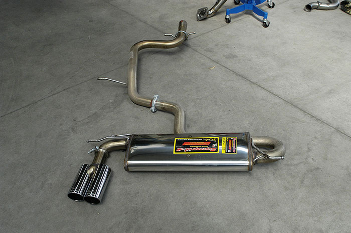 Rear exhaust after 5000 km