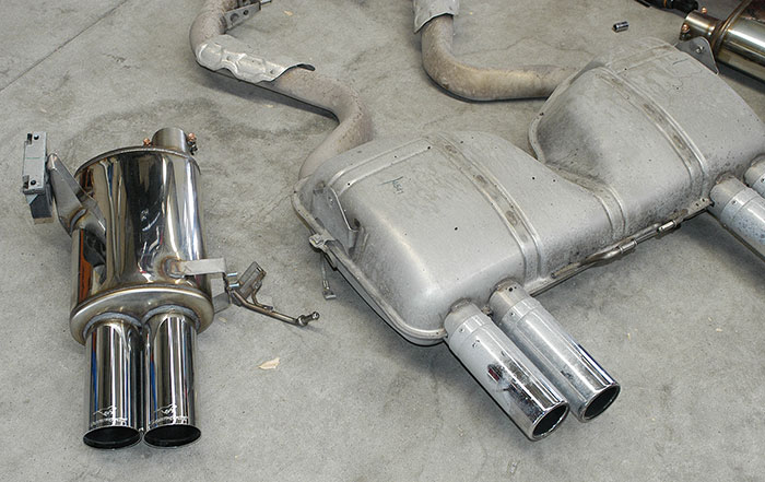 "Stock vs Supersprint ""Racing"" exhaust"