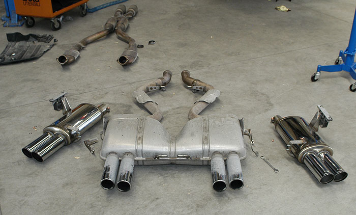"Stock exhaust system, Supersprint ""Racing"" rear exhaust"