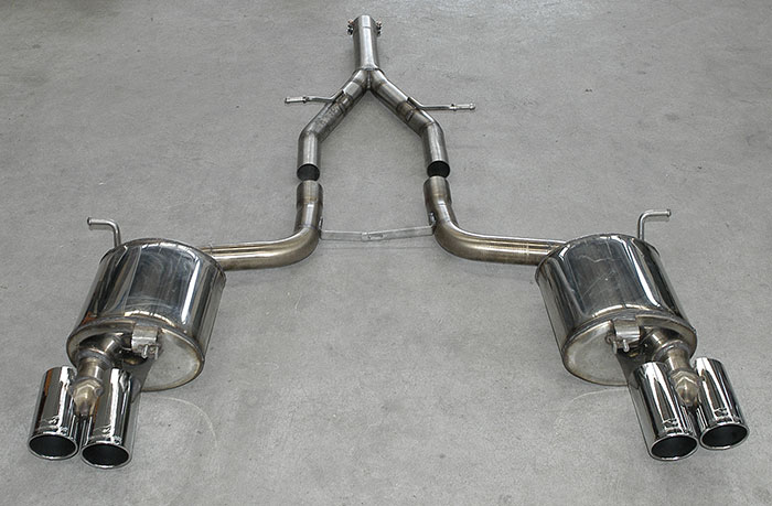 Supersprint: centre pipe, rear exhaust and 2 x 80 mm endpipes