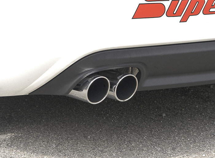 Supersprint exhaust fitted, 2x80 mm endpipes