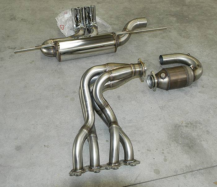 "Supersprint full exhaust: 440401 Manifold 4-1 Step-design + 440402 Front pipe with metallic kat + 441506 Rear exhaust ""Racing"" OO80"
