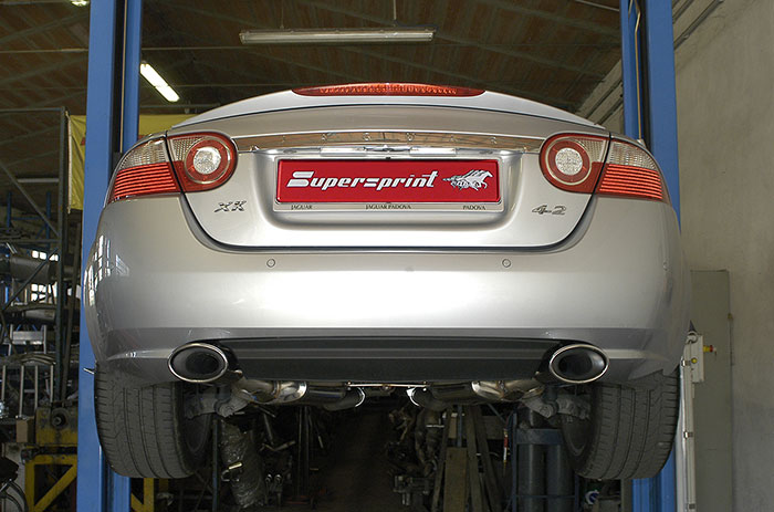 131135 + 131105 Supersprint Rear Exhaust fitted