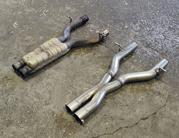 Stock Centre exhaust vs Supersprint Centre Pipe