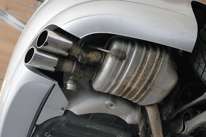 Stock right rear exhaust