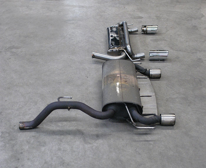 Stock rear exhaust VS Supersprint