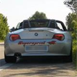 BMW Z4 Roadster 20i (4 cyl.) '05 -> '09 - Supersprint rear exhaust - Acceleration and flyby