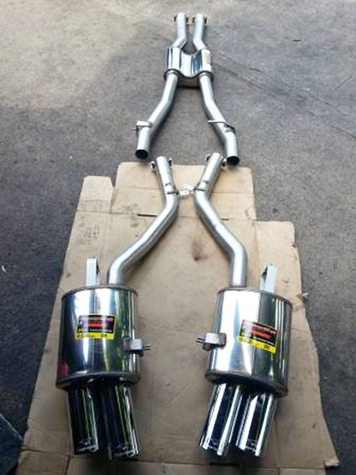 986303 Centre exhaust + 986346 Rear exhaust L. OO90 + 986326 Rear exhaust R. OO90