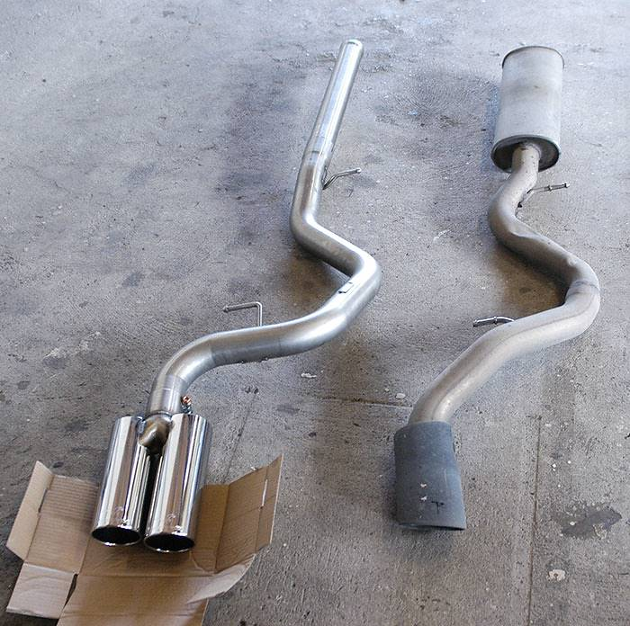 045516 Rear pipe OO80 VS Stock exhaust