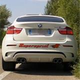 "BMW E71 X6 M V8 Bi-Turbo (555 hp) 2010 -> Rear exhaust ""Racing"" - Acceleration"