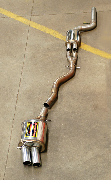 "987102 Front exhaust + 987113 Central ""Y-Pipe"" + 987106 Rear exhaust OO80"