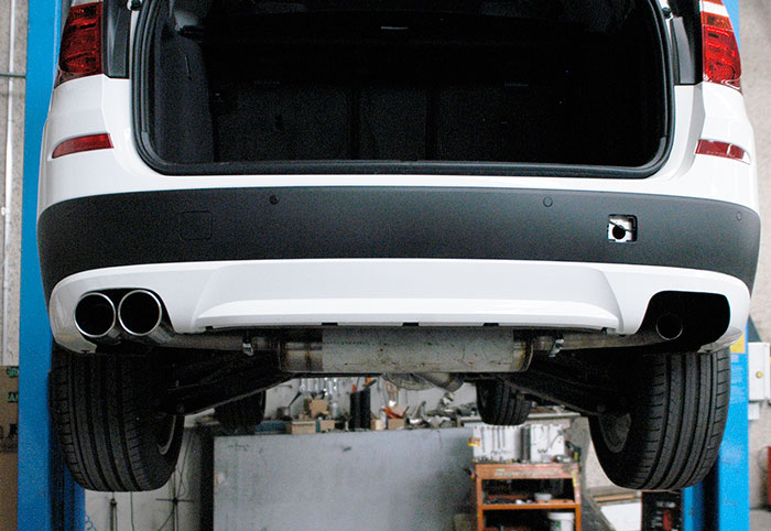 Prototype of 986604 Rear exhaust R.- L. + 986626 Endpipe kit R. OO90 - L. OO90