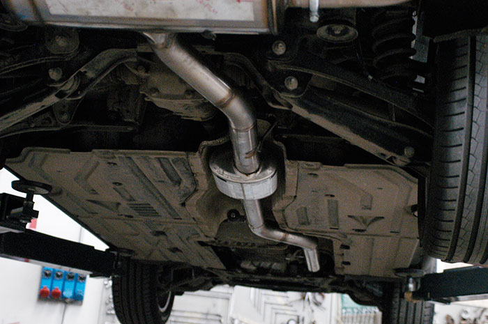 Prototype of 986603 Centre exhaust