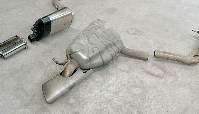 Stock rear exhaust L.