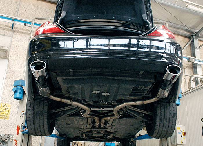 "844413 Central ""X-Pipe"" + 848235 Rear exhaust L. 145x95 + 848205 Rear exhaust R."