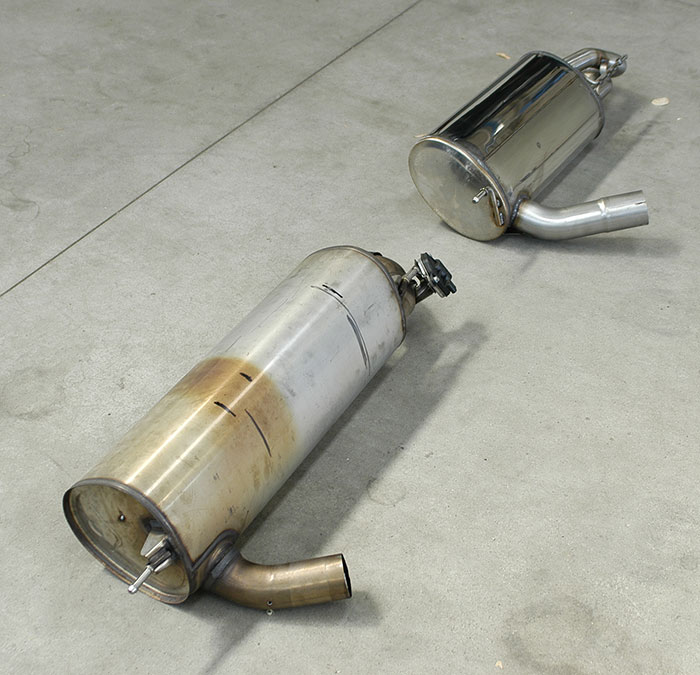 Stock rear exhaust VS 987306 Rear exhaust OO80