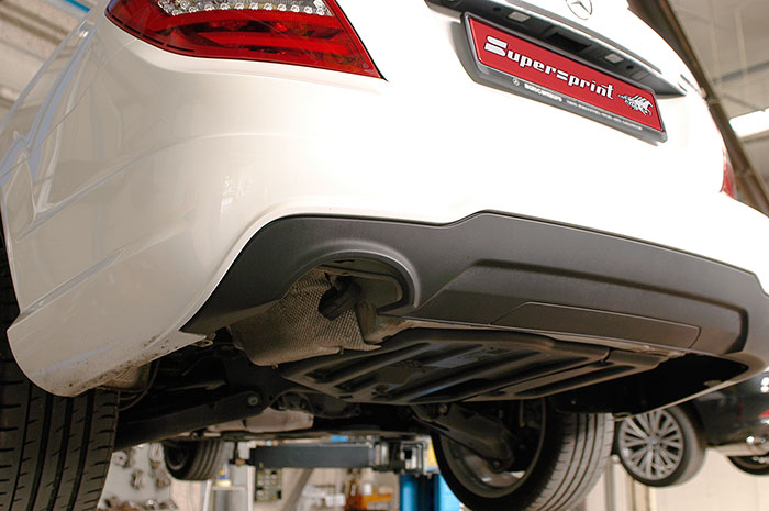 left side arch on OEM rear bumper