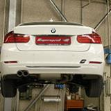 Supersprint full exhaust system development for BMW F30 328i 2.0T