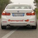 BMW F30 328i 2.0T (254 Hp) 2012 -> Supersprint quad pipe exhaust