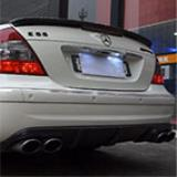 MERCEDES W211 E 55 AMG V8 -> Supersprint exhaust system - Revving