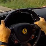 FERRARI 458 Italia 4.5i V8 - Metallic catalytic converters + Rear exhaust Right + Left with bypass valves - Inside sound