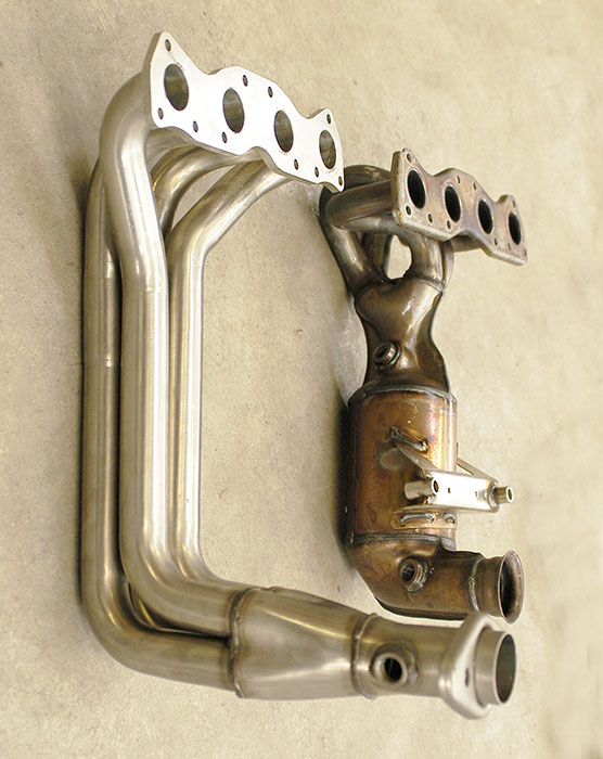 Prototype of 804401 Manifold 100% Stainless steel VS Stock manifold
