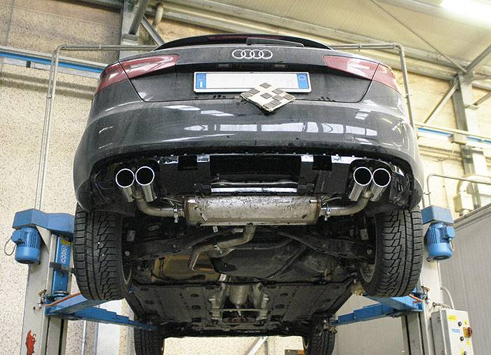 Mockup Of 770604 Rear Exhaust Right Left 764616 Endpipe Kit 4 Exit Oo80 76461: Audi A3 Exhaust At Woreks.co
