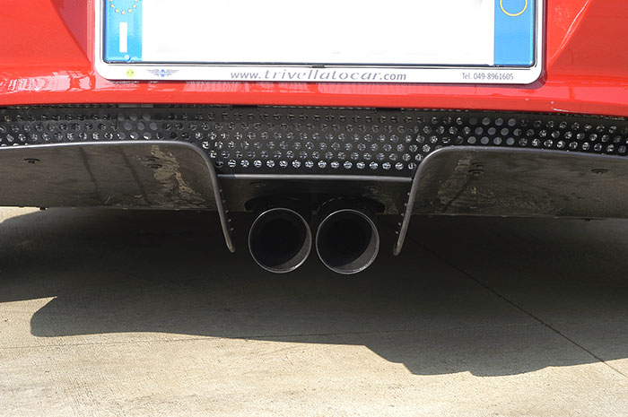 Prototype of 441906 Rear exhaust OO80 (BLACK ENDPIPES)