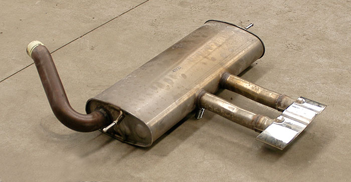 Stock rear exhaust (WAGON)