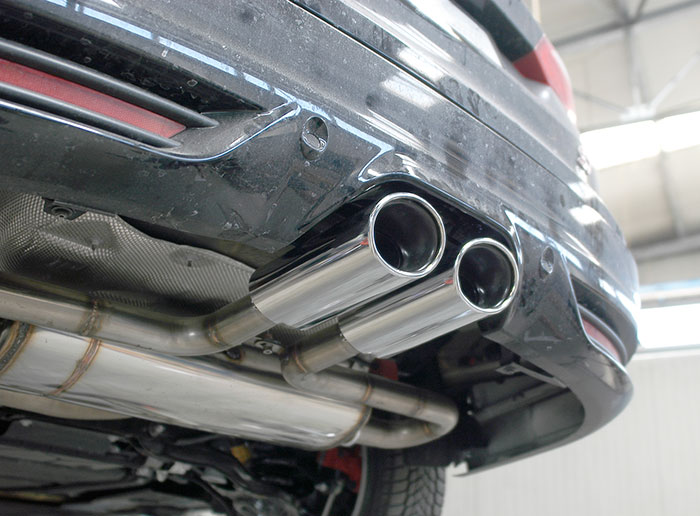 Prototype of 826004 Rear exhaust + 826025 Endpipes kit 120x80
