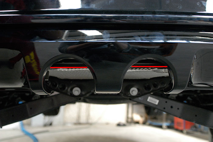 VW GOLF VI R rear bumper