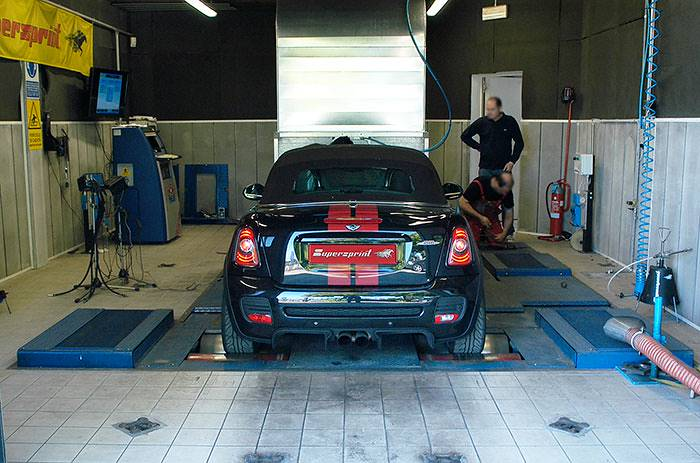 BMW MINI John Cooper Works Roadster (211 Hp) 2012 –› dyno testing