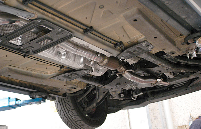 Detail of 831132 Front pipe with metallic catalytic converter