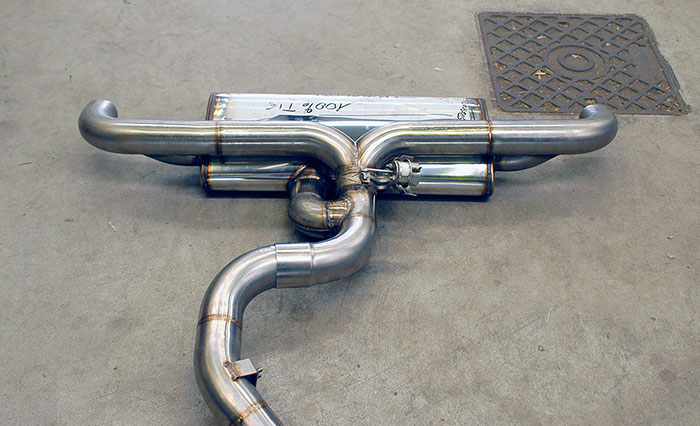 Prototypes of 769904 Rear exhaust with bypass valve