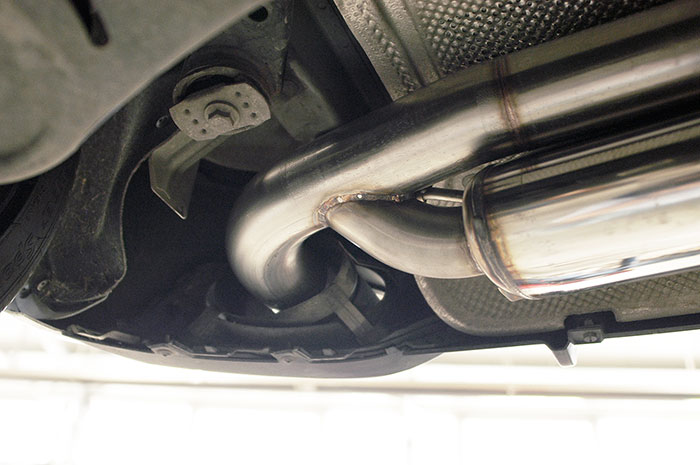 Detail of 769904 Rear exhaust with bypass valve