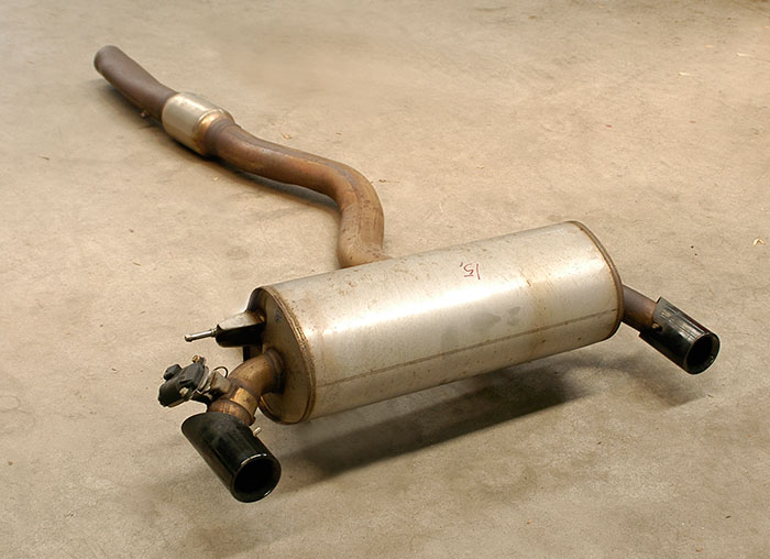 Stock rear exhaust