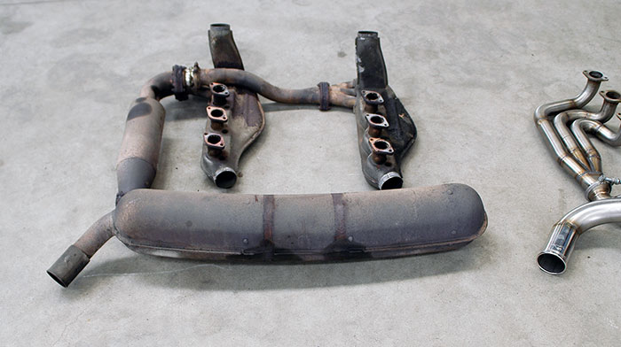 Stock exhaust system