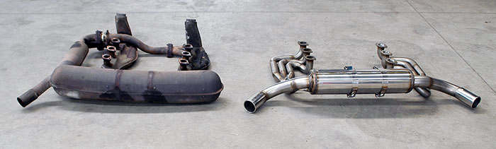 Stock  VS Prototype of Supersprint full exhaust